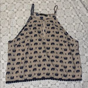 Elephant Tank Top with Cut-Out